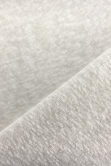 Japanese Cotton Blend Terry Knit in White0