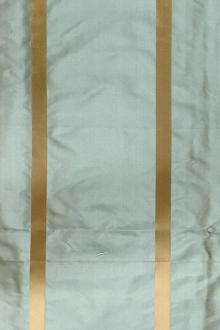 Iridescent Silk Taffeta with Satin Stripes0