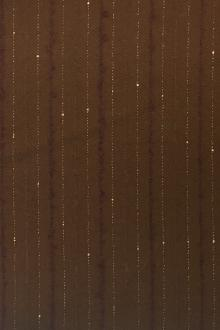 REDUCED Wool and Lurex Novelty Stripe in Copper0