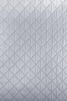 Diamond Quilted Woven Polyester in Vapor0