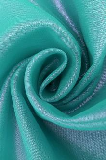 Microfiber Gold Metallic Chiffon in Aqua0