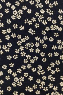 Japanese Textured Cotton With Floral Repeat0