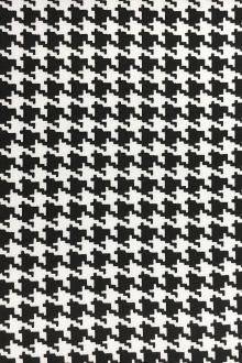 Printed Silk Crepe de Chine with Digital Houndstooth0