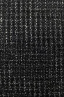 Italian Wool Bamboo Blend Novelty Suiting in Grey0