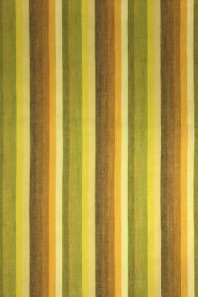 Cotton Woven Stripe in Greens and Yellows0