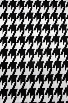 Cotton Canvas Houndstooth Print0