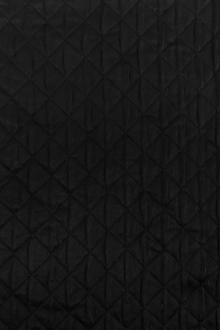 Diamond Quilted Woven Polyester in Black 0