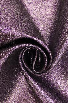 Polyester and Cotton Blend Lamé in Lilac0