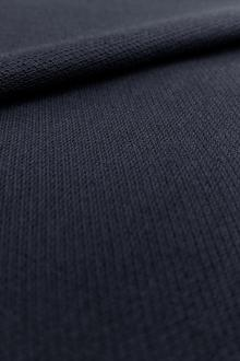 Japanese Cotton Pique Knit in Navy0