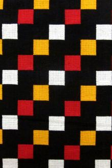 Woven Cotton with Native Geometric Pattern0