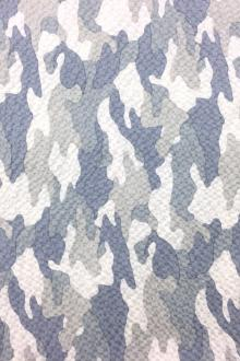 Cotton Camouflage Seersucker in Grey0