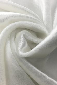 French Silk Rayon Panne Velvet in Silk White0