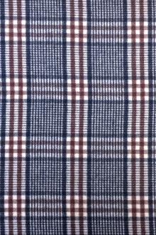 Cotton Wool Blend Flannel Plaid0