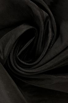 French Silk and Viscose Blend Moiré in Black0