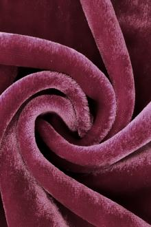 Silk and Rayon Velvet in Rose Purple0