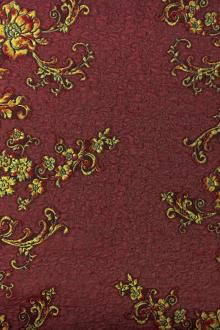 Swiss Silk Bend Cloque with Floral Filigree0