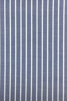 Cotton Oxford Shirting Stripe in Blue0