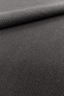 Japanese Cotton Pique Knit in Graphite0