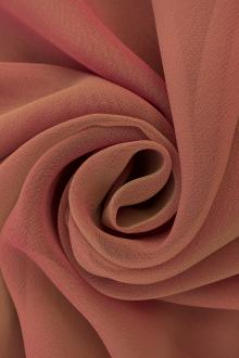 Iridescent Polyester Chiffon in Dusty Rose0