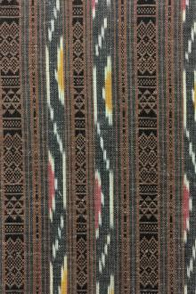 Cotton Ikat With Stripes0