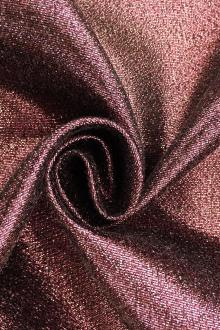 Polyester and Cotton Blend Lamé in Bordeaux0