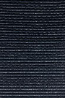 Novelty Cotton and Rayon Ottoman in Midnight Navy0