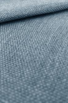 Linen Like Polyester in Teal Blue0