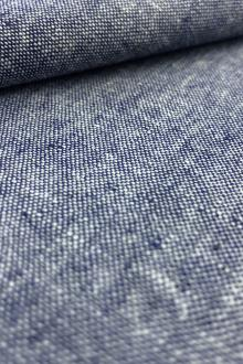 Yarn Dyed Linen Cotton Blend in Denim0