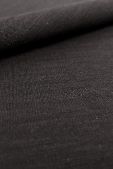 Stretch Linen Rayon Blend in Black0