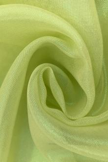 Microfiber Gold Metallic Chiffon in Lime0