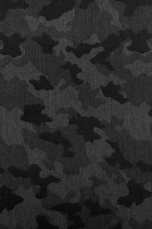 Italian Wool Camouflage Jacquard Suiting in Charcoal0