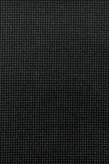 Italian Wool Cotton Blend Novelty Suiting in Black0