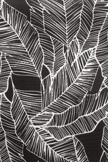 Charcoal Leaves Polyester Outdoor Print0