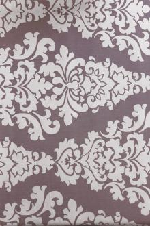 Lilac Filigree Deco Cotton Canvas Print0