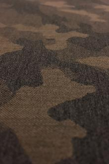 Italian Wool Camouflage Jacquard Suiting Camel/Grey0