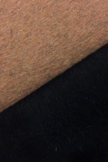 Italian Cashmere Doubleface Coating in Ochre and Black0
