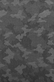 Italian Wool Camouflage Jacquard Suiting in Graphite0