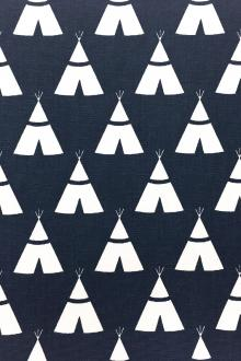 Cotton Canvas With Teepee Print0