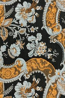 Cloqué Brocade with Large Swirls and Florals0