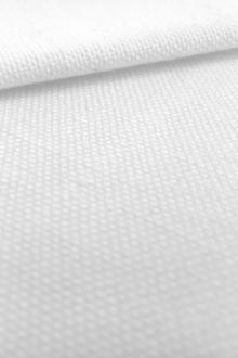 Linen Like Polyester in White0
