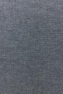 Cotton Chambray With Herringbone Pattern In Indigo0