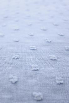 Cotton Swiss Dot in Dusty Blue0