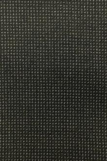 Italian Wool Cotton Blend Novelty Suiting in Navy and Olive0