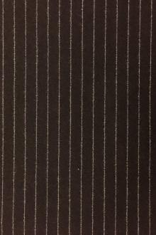 Italian Virgin Wool And Lycra Striped Flannel0