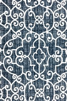 Outdoor Spun Polyester Canvas with Ornamental Print 0