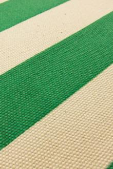 "Japanese Cotton Canvas 1.25"" Stripe In Green And Natural0"
