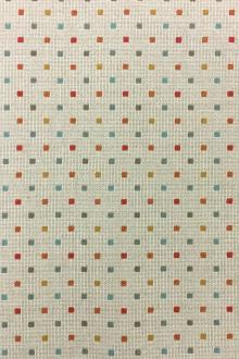 Japanese Cotton Woven Novelty With Little Multicolor Squares 0