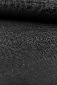 Belgian Sanforized Linen in Black0