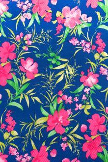 2975be03fa4 Italian Stretch Cotton Piqué Floral Print