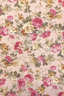 e33342c9440 Japanese Cotton Linen Blend Floral Print